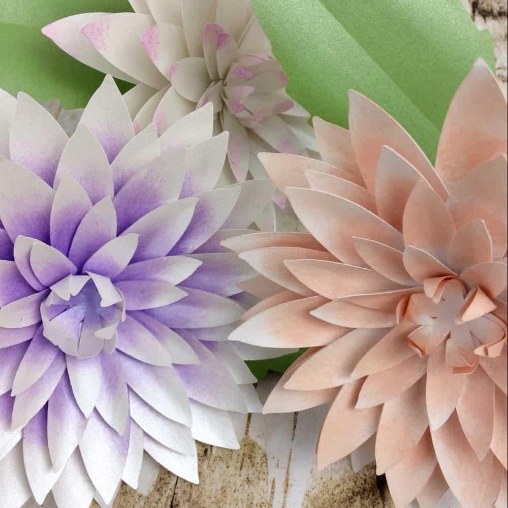 Dahlia  Paper Flower Tutorial