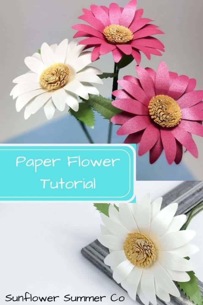 Image of daisy paper flower template