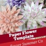 dahlia paper flower template