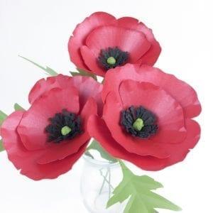 Poppy Paper Flower Tutorial