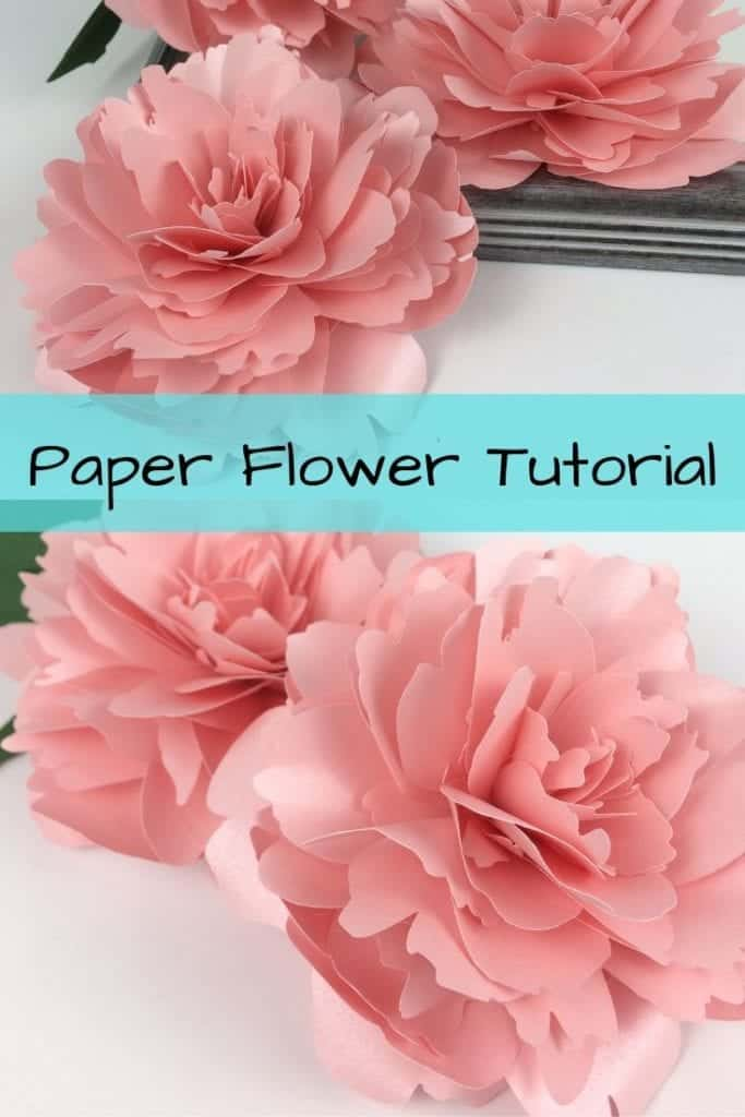 paper peony template and tutorial