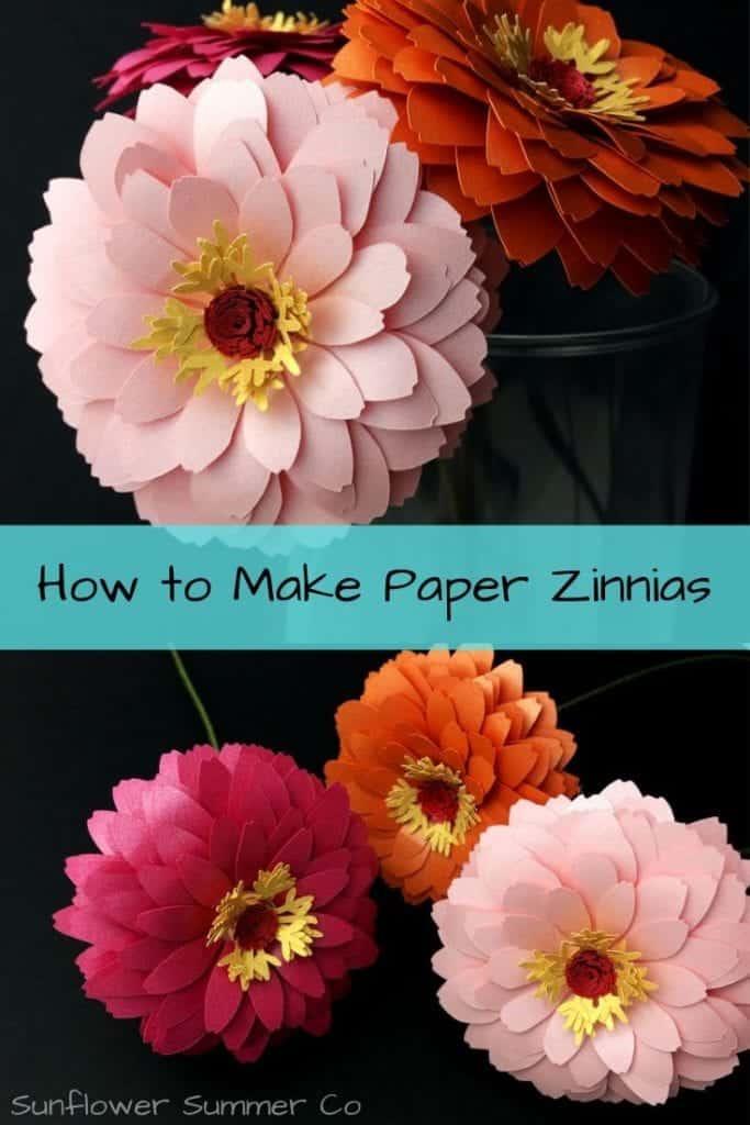 paper zinnia flower template
