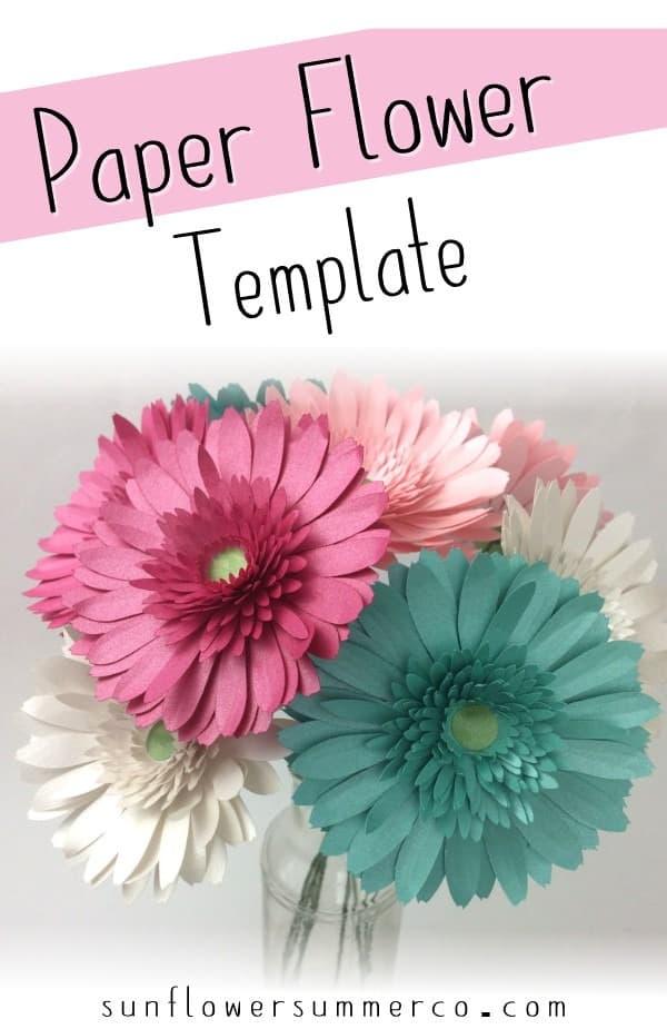 paper gerbera daisy
