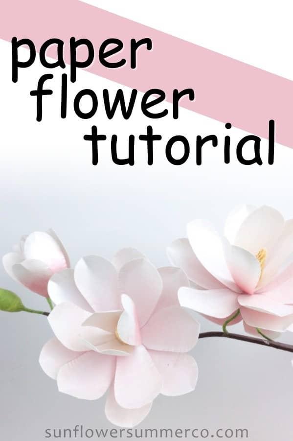 paper magnolia template, paper flowers