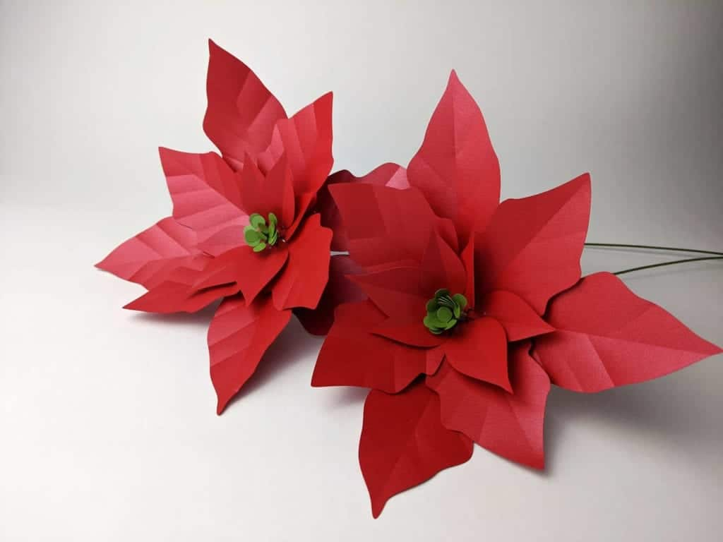 Easy Paper Flowers Poinsettia - Red Ted Art - Make crafting with ... | 768x1024