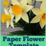 daffodil paper flower template