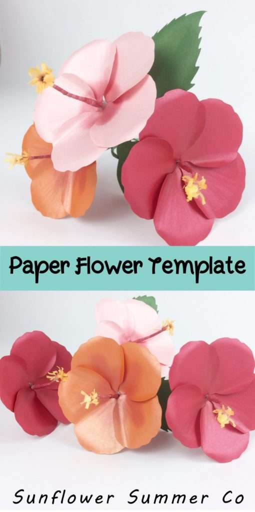 hibiscus flower template and tutorial
