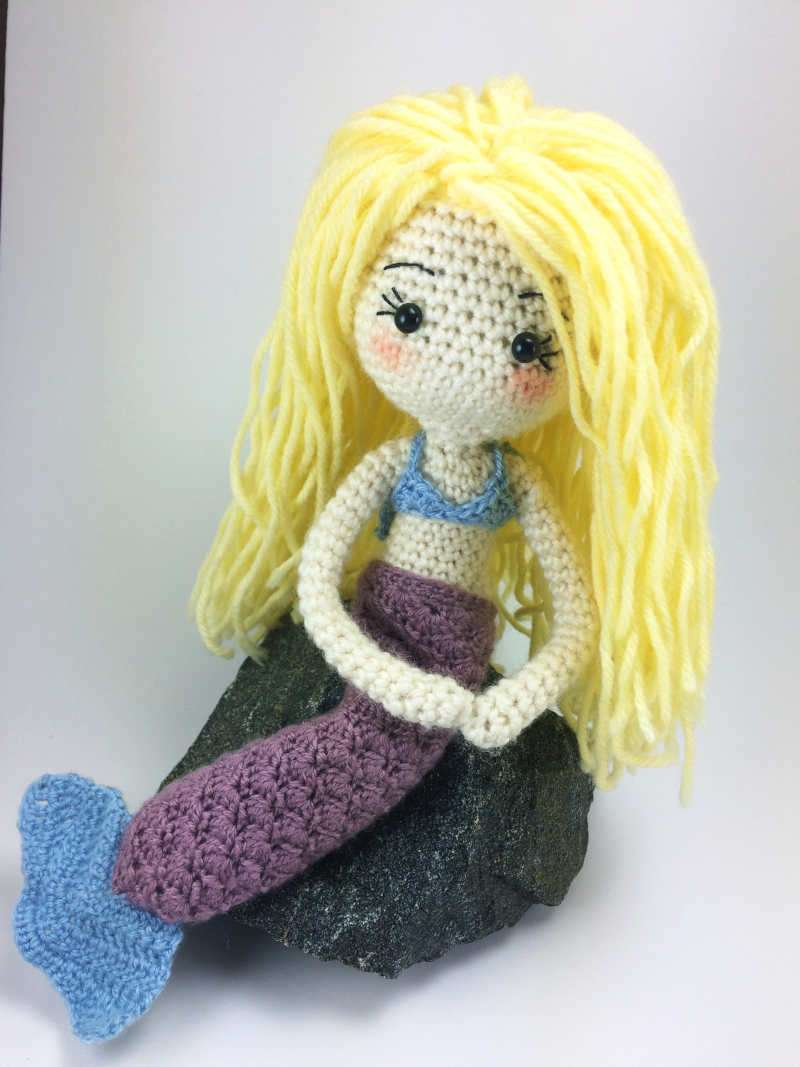 Mermaid Outfit for Crochet Doll