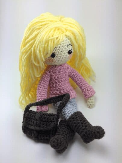 Sweater and Purse for Crochet Doll
