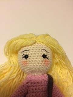crochet doll face