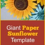 giant paper sunflower